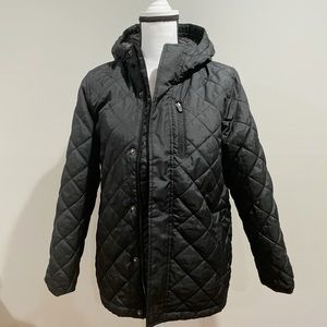 Old Navy Quilted Black Coat